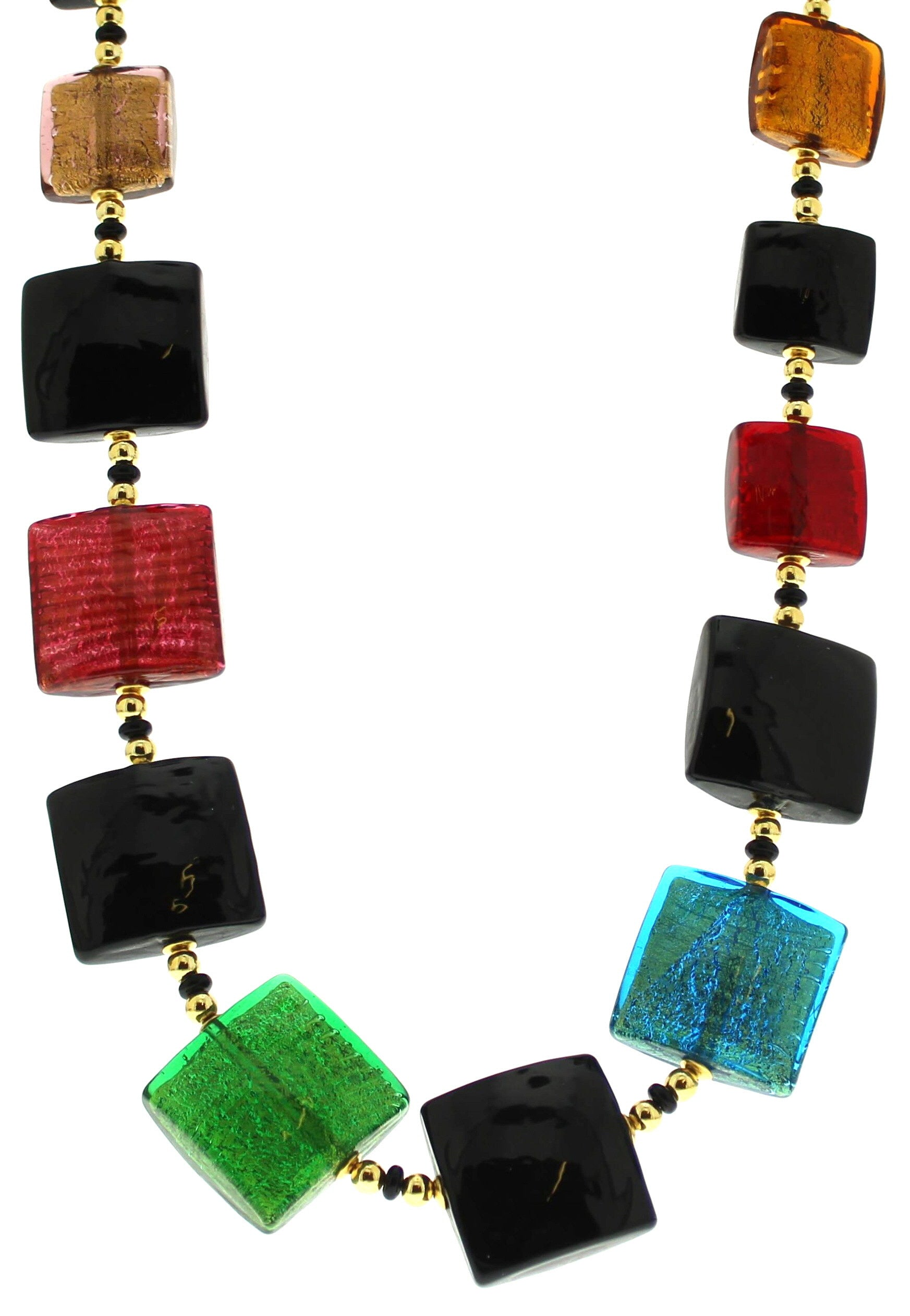 Murano Cushion Square Necklace