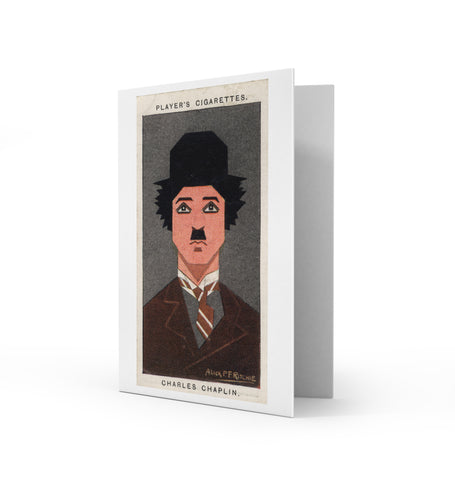 Charlie Chaplin Greetings Card