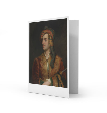 George Gordon Byron Greetings Card