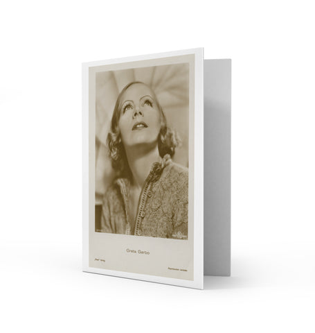 Greta Garbo Greetings Card