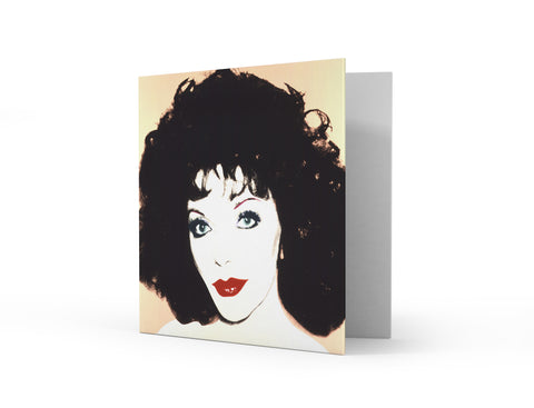 Joan Collins by Andy Warhol Greetings Card