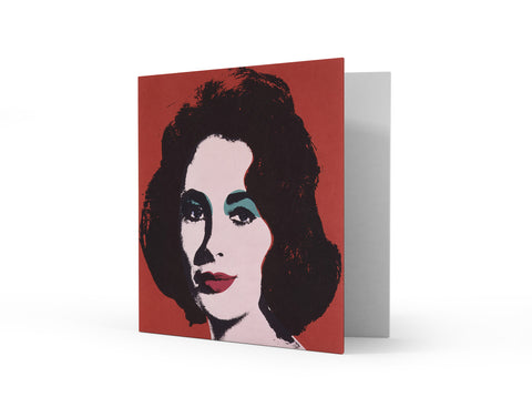 Dame Elizabeth Taylor by Andy Warhol Greetings Card