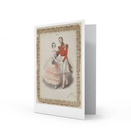 The Queen & Prince Albert's Polka Greetings Card
