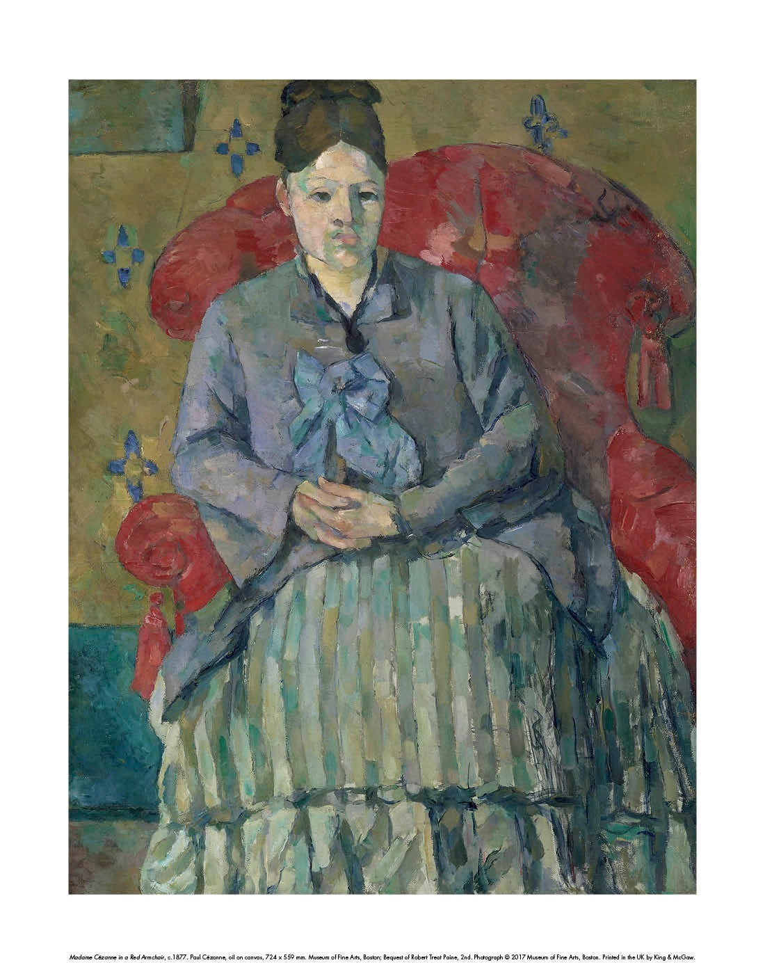 Madame Cézanne in a Red Armchair, c. 1877 Mini-print