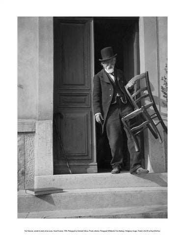 Paul Cézanne, outside his studio at Les Lauves, Aix-en-Provence, 1906 Mini-print