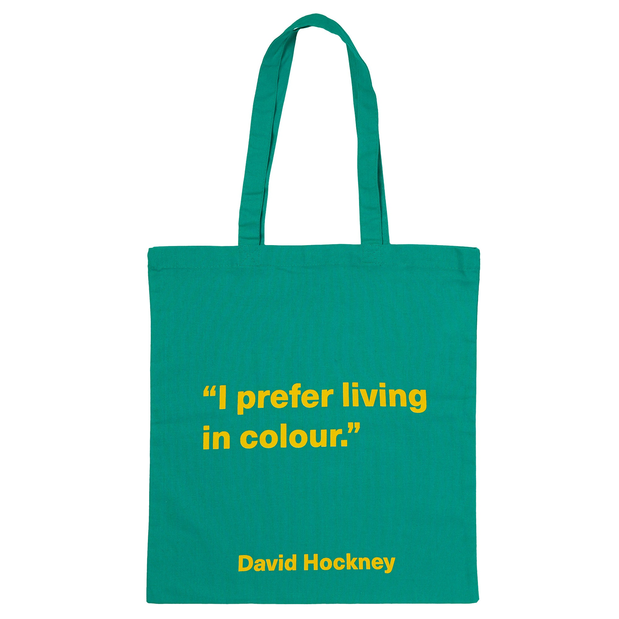 David Hockney Green Quote Tote Bag