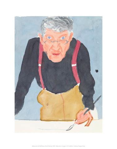 David Hockney Self-portrait with Red Braces Mini-print