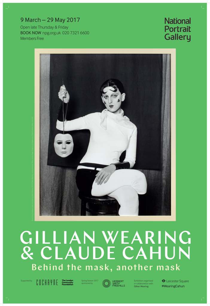 Gillian Wearing and Claude Cahun Exhibition Poster