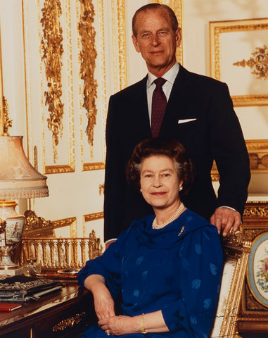 Queen Elizabeth II; Prince Philip, Duke of Edinburgh NPG P1541 Portrait Print