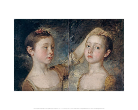 Mary and Margaret Gainsborough, the Artist's Daughters Midi-print