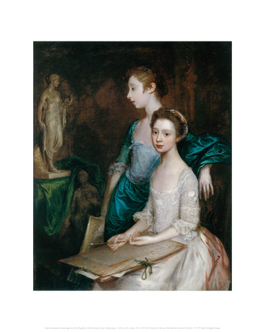 Mary and Margaret Gainsborough, the Artist's Daughters, at their Drawing Midi-print