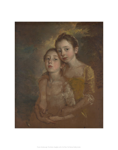 The Painter's Daughters with a Cat Mini-print