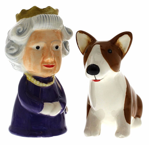 Queen & Corgi Salt & Pepper Set