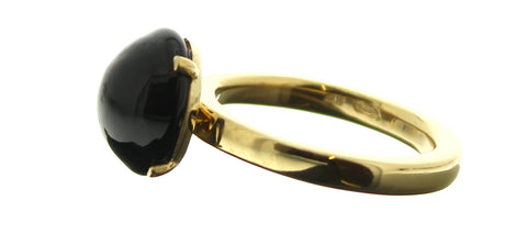 Murano Black Cabochon Ring
