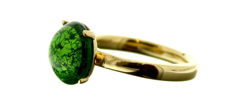 Murano Green Cabochon Ring