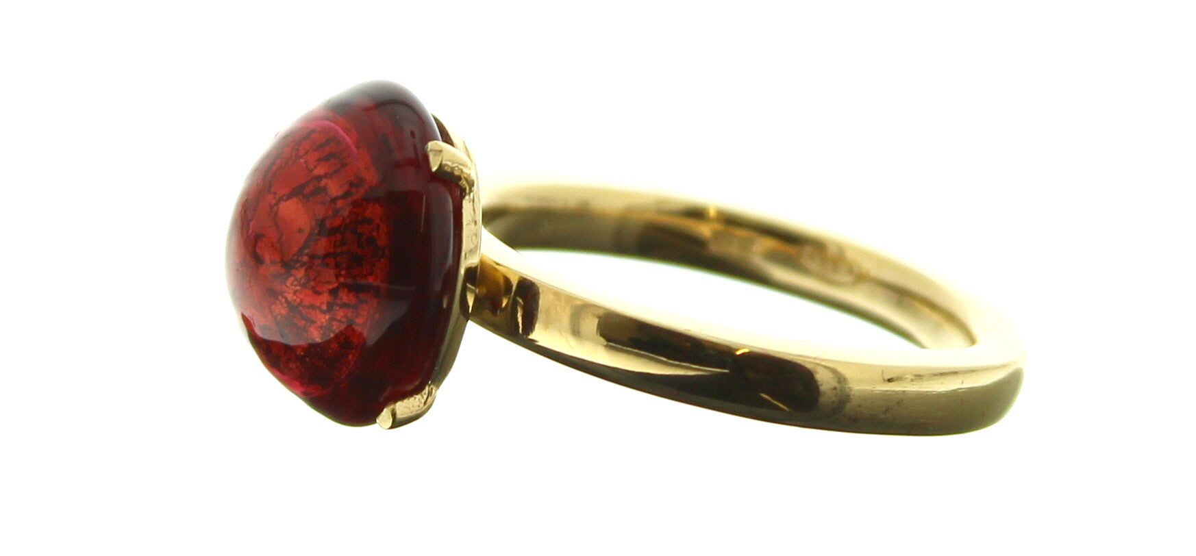 Murano Red Cabochon Ring
