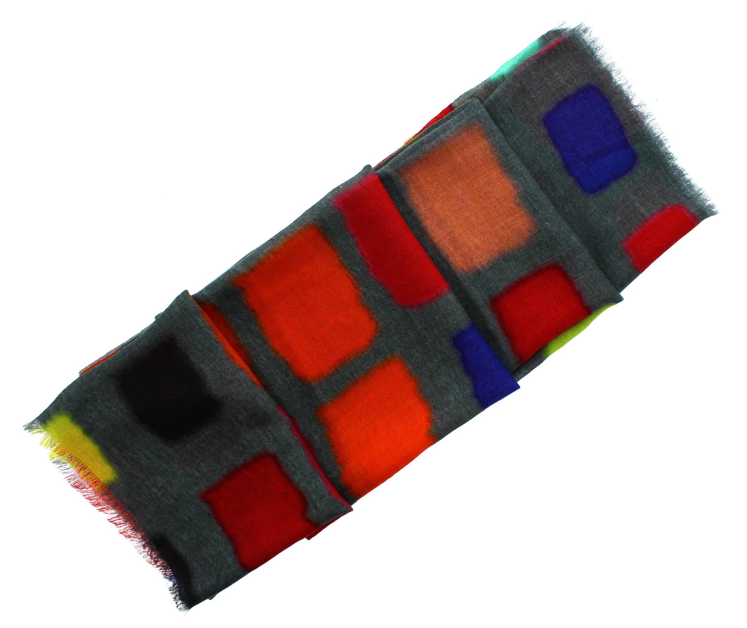 Coloured Squares Scarf