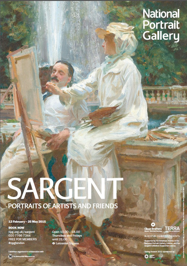Sargent 'The Fountain' Exhibition Poster