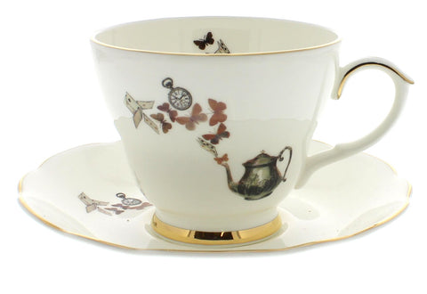 Wonderland Tea Cup and Saucer
