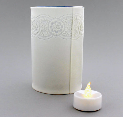 Porcelain Lace Tealight Holder (Large)
