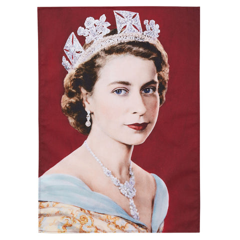 Queen Elizabeth II Cotton Tea Towel