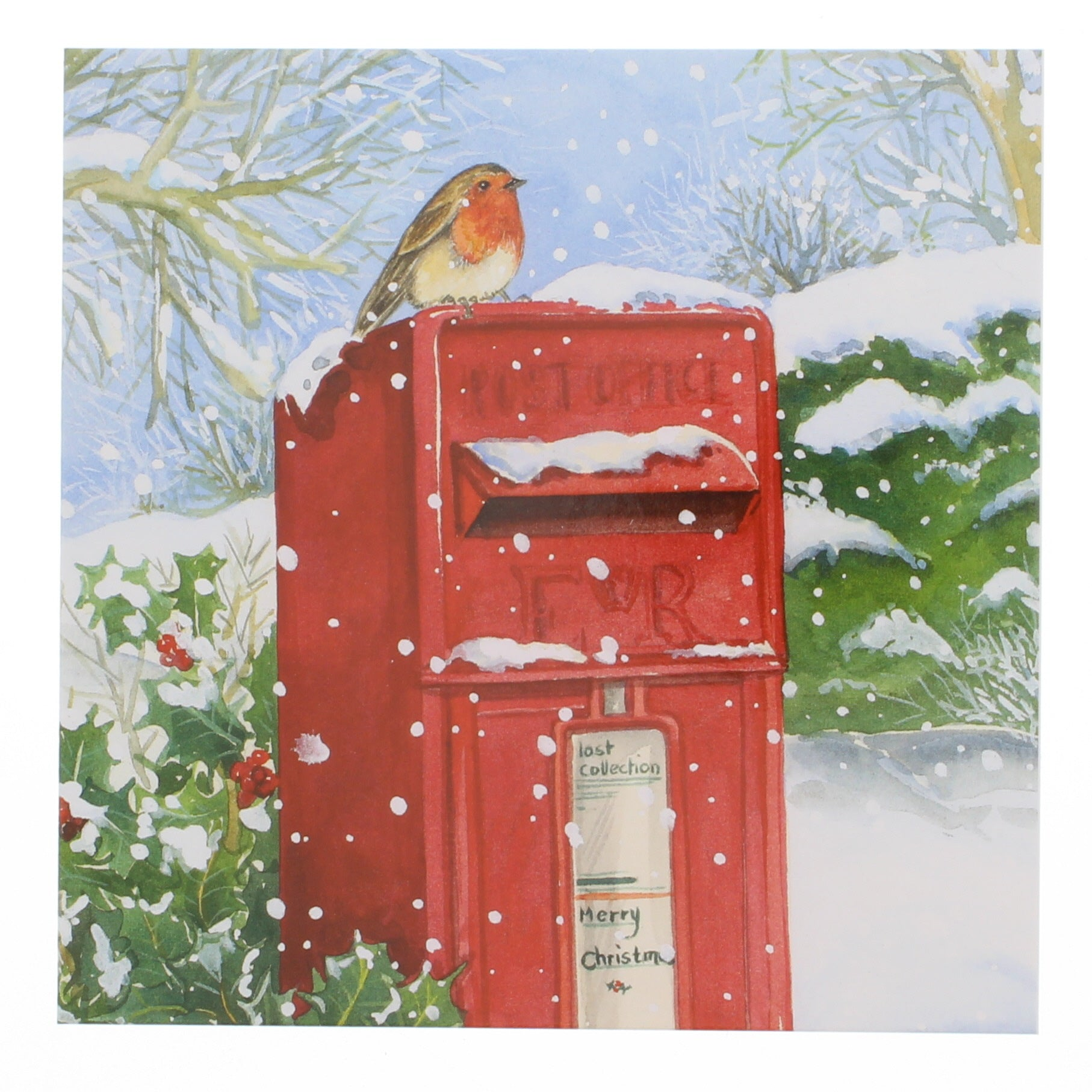Robin and PO Box Christmas Card 8 Pack
