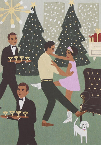 Couple Dancing Christmas Card 5 Pack