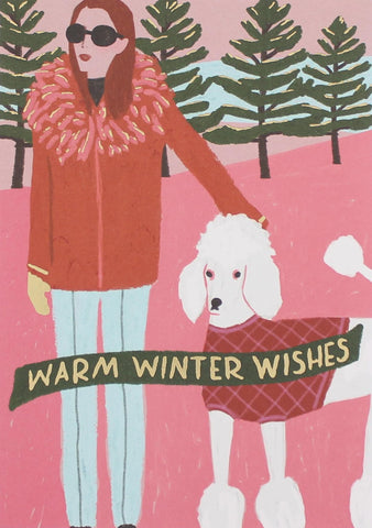 Warm Winter Wishes Christmas Card 5 Pack
