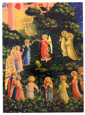 Angels in the Fields of Heaven Christmas Card 8 Pack