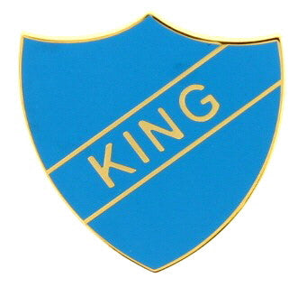 'King' Vintage Style Enamel Badge