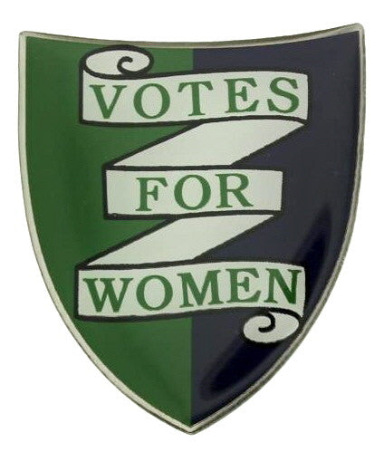 Votes For Women Shield Lapel Pin