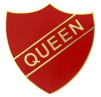 'Queen' Vintage Style Enamel Badge