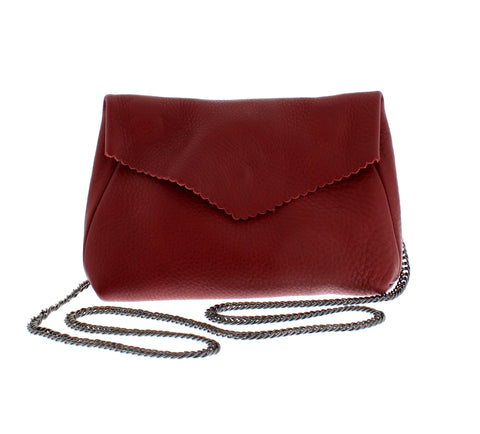 Red Leather Chain Bag