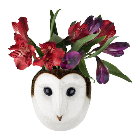 Barn Owl Wall Vase