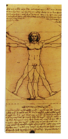 Vitruvian Man Magnetic Bookmark