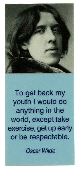 Oscar Wilde Quote Magnetic Bookmark