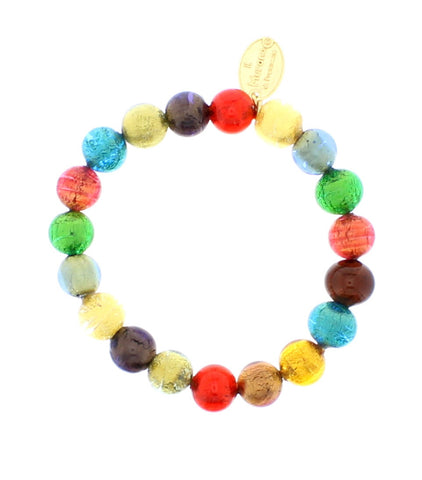 Multi Coloured Bright Murano Glass Bracelet