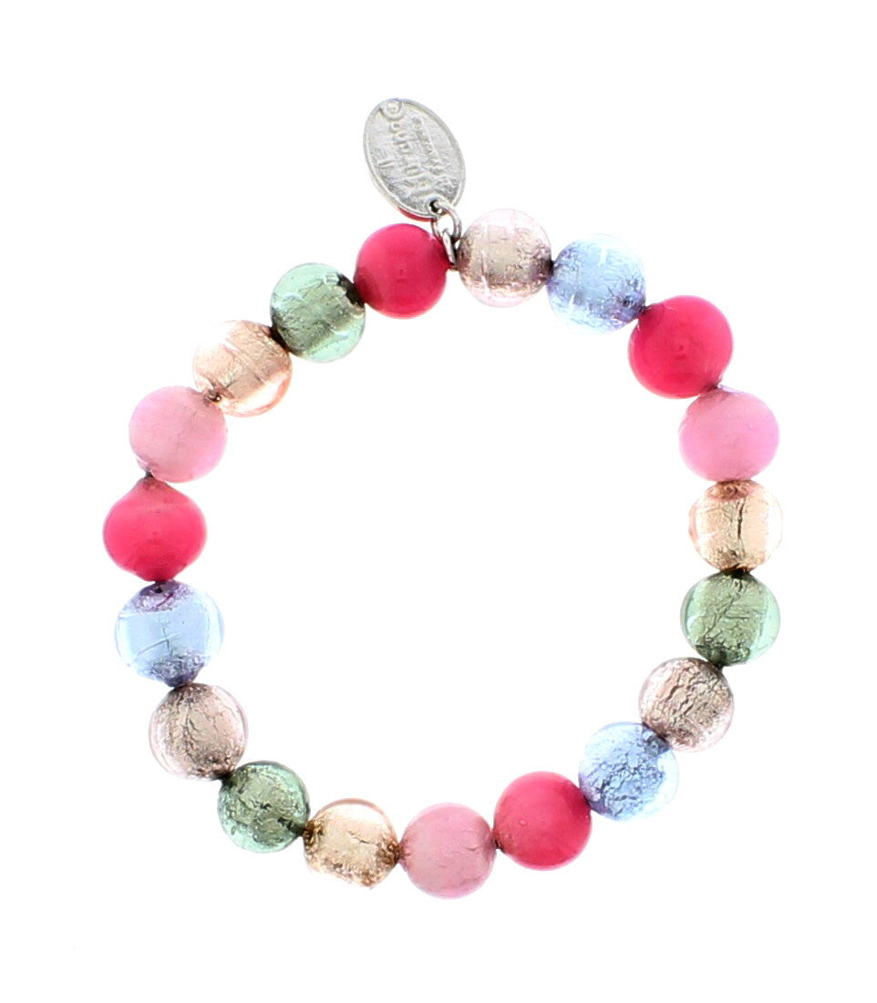 Murano Pastel Coloured Glass Bracelet