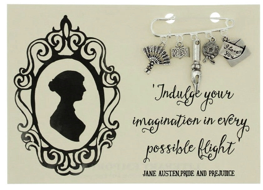 Jane Austen Brooch Pin