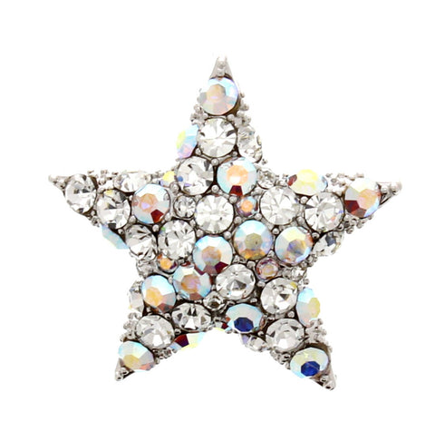 Light Crystal Star Brooch