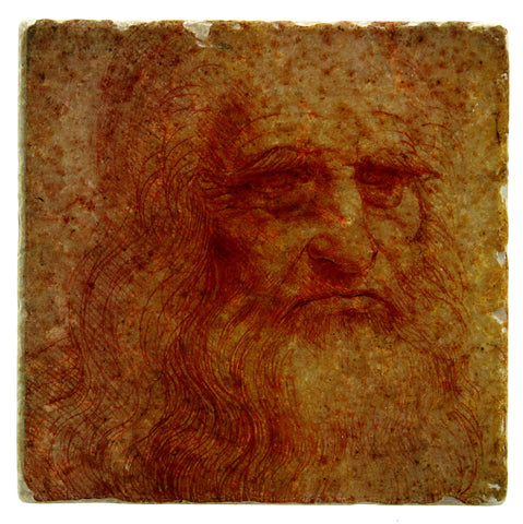 Da Vinci Self-portrait Coaster