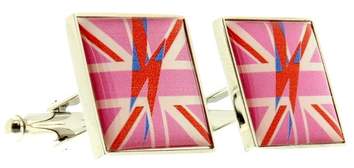 Pink Jack Bowie Flash Cufflinks