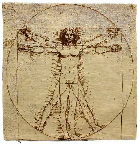 Vitruvian Man Tapestry Cushion Cover