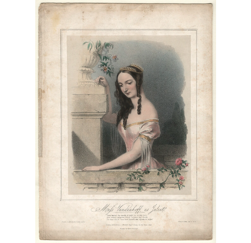 Charlotte Elizabeth Vandenhoff as Juliet in 'Romeo and Juliet' NPG D4566 Portrait Print