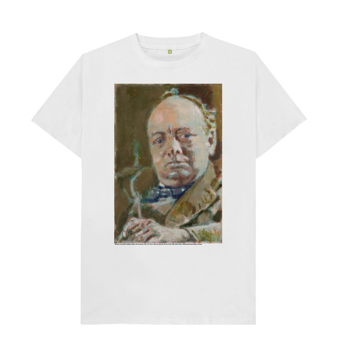 White Winston Churchill Unisex T-Shirt