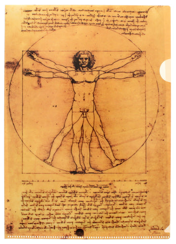 Vitruvian Man Document Wallet