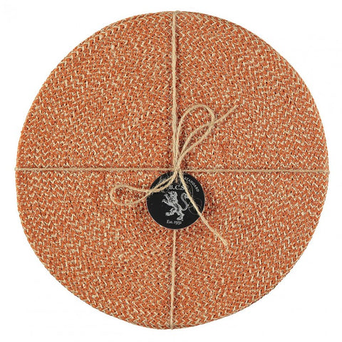 Set of four Tangerine Jute Placemats