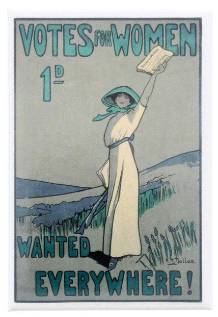 Suffragettes 'Wanted Everywhere!' Fridge Magnet