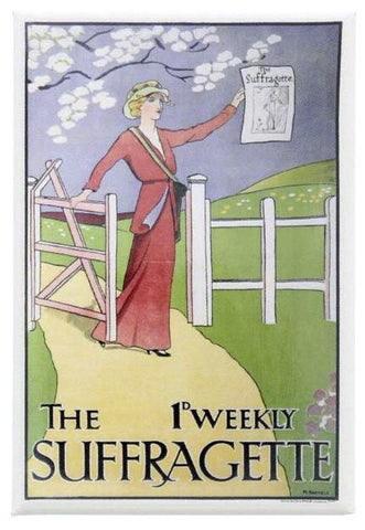 Suffragettes 'The 1d Weekly Suffragette' Fridge Magnet