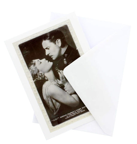 Vilma Banky and Ronald Colman Greetings Card
